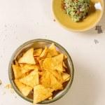 Nachos and guacamole — Stock Photo #70902843