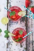 Aardbei limonade — Stockfoto
