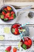 Limonada de morango — Fotografia Stock