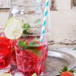Strawberry lemonade — Stock Photo #72150425