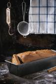 Bread in bread pan — Stock Photo