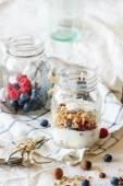 Granola with yogurt and berries — Стоковое фото