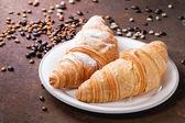 Two croissant — Stock Photo