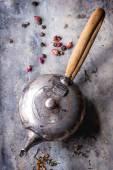 Vintage metal teapot — Stock Photo