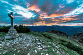 Sunrise from the summit — Stock Photo