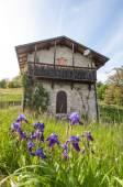 Oud huis in yhe Alpen berg, Italië — Stockfoto