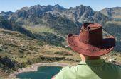 Trekking in the mountain — Stockfoto