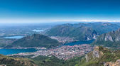 City of lecco from mountain — Stock Photo
