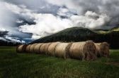 Hay Bale hand made — Stock Photo