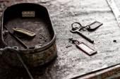 Old keys abandoned — Stock Photo
