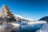 River in winter mountains — Stock Photo