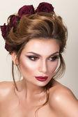 Retrato da beleza da mulher adulta — Foto Stock