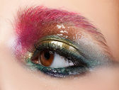 Modern fashion liquid latex creative eye makeup — Stock Photo