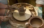 Pottery creating process — Foto de Stock
