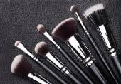 Professional makeup brushes — Stock Photo