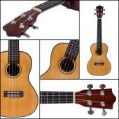Ukulele guitar isolated on white background — Stock Photo