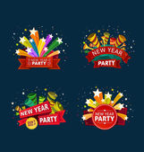 New year party event tittle — Stock Vector