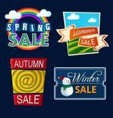 Various seasonal sale event tittle — Vetorial Stock