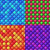 Sömlös färgglada geometriska mönster — Stockvektor