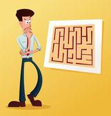 Solve the maze — Stock Vector