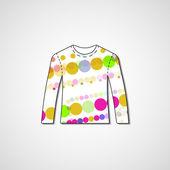 Abstract illustration on sweater — Stockvektor
