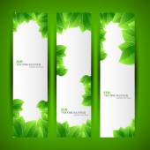 Set of ecology banners — Stock Vector