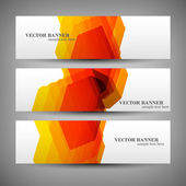 Set banners abstract illustration — Stock Vector