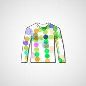 Abstract illustration on sweater — Stock Vector