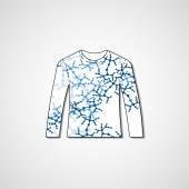 Абстрактный рисунок на свитер — Cтоковый вектор