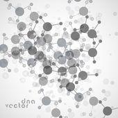 Ilustração de fundo de molécula — Vetor de Stock