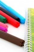 Multicolor children felt-tip pens — Stock Photo