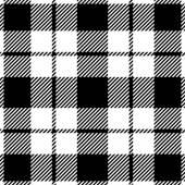 Tartan-Muster. Schottische traditionelle Stoff nahtloser Vektor. Weiß auf schwarzem Hintergrund. Geeignet für Kinder, Dekoration Papier, Startseite, design, Konzept, Kleidung, Handwerk & Schrott buchen. — Stockvektor