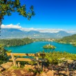 Bled Lake panorama,Slovenia,Europe — Stock Photo #53848375
