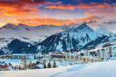 Famous ski resort in the Alps,Les Sybelles,France,Europe — Stock Photo