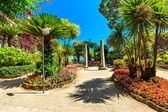 Park in Ravello,Rufolo garden,Amalfi coast,Italy,Europe — Stock Photo