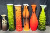 Beautiful ceramic jugs — Foto Stock