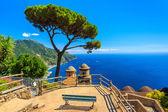 Ornamental suspended garden,Rufolo gardens,Ravello,Amalfi coast,Italy,Europe — Stock Photo