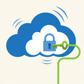 Big Data Cloud computing — Stock Vector