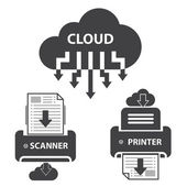 Cloud document storage — Stock Vector