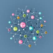 Business Software and Social Media Concept. — Vector de stock