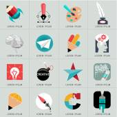 Logos and web Icons — Stockvector
