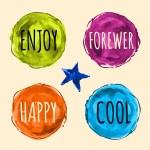 Watercolor Labels, Logo Elements — Stock Vector #64575969