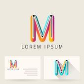 Letter Alphabet M Logo Icon — Stock Vector