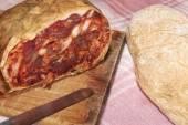 Spicy calabrese salami — Stock Photo