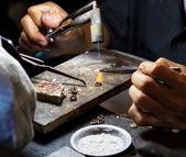 Work jeweler. — Stock Photo