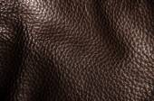 Texture of  dark brown leather — Stock Photo