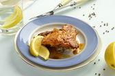 Tandoori chicken with lemon — Foto de Stock