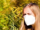 Unbearable Ragweed Allergy — Stock Photo