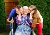 Loving Grandchildren — Stock Photo
