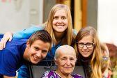 Grandchildren's Visit — Stock Photo